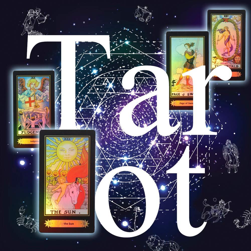 78 Teile Satz Tarot Karten Vintage Reiter Waite Tarot Zukunft Erz/ählen Spielkarten Set mit Bunten Box f/ür Anf/änger Brettspiel
