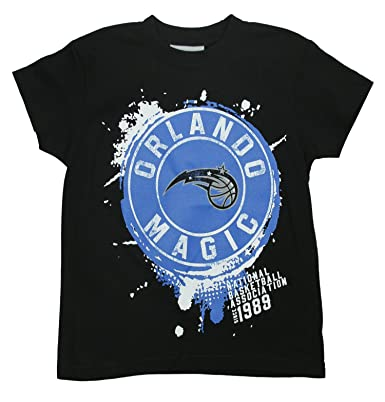 NBA Orlando Magic Logo de salpicaduras de negro Big Boys camiseta, negro, XL,