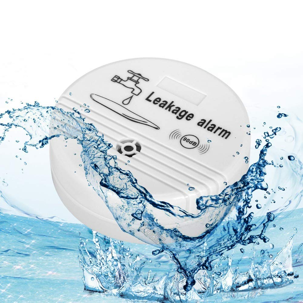 TraderPlus 90 dB Water Leakage Detection Alarm and Sensor for Bathrooms, Basements and Kitchens