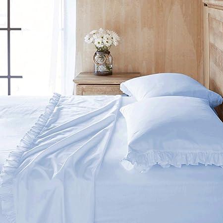 Scala Bedding - Sábana encimera (600 Hilos, 100% algodón Egipcio, 1 Pieza), Color Azul: Amazon.es: Hogar
