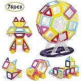 MVPOWER Magnetische Bausteine 76tlg Magnetspielzeug Set, Kreative und Pädagogische Konstruktionsbausteine, Bauklötze für Kinder ab 3 Jahre, Inspirierende Bausätze als Tolles Geschenk für Kleinkinder