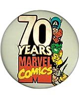 "Marvel Comics - 70 Years of Marvel Comics - 1 1/4"" Button / Pin"