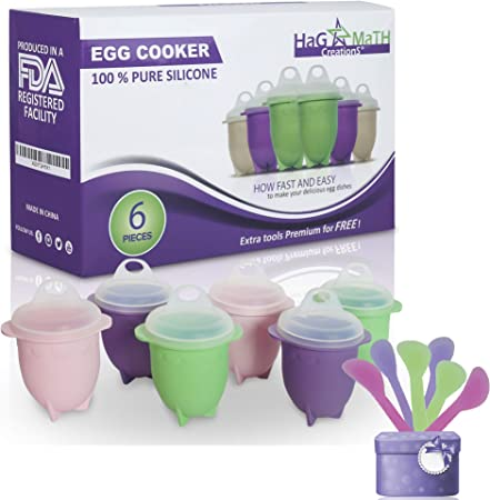 Amazon.com: Hag & MaTH - Olla para microondas, huevos ...