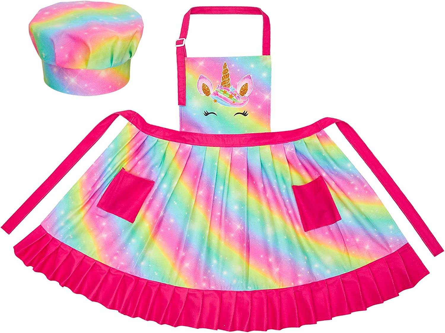 A doughnut Apron with two sets of pleats