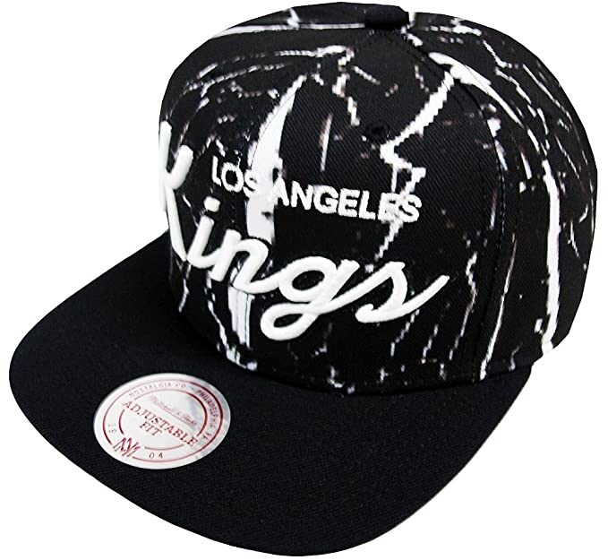 reputable site 979df 4a2c0 Image Unavailable. Image not available for. Colour  Mitchell   Ness Men Caps  Snapback Cap Shatter LA Kings Black Adjustable