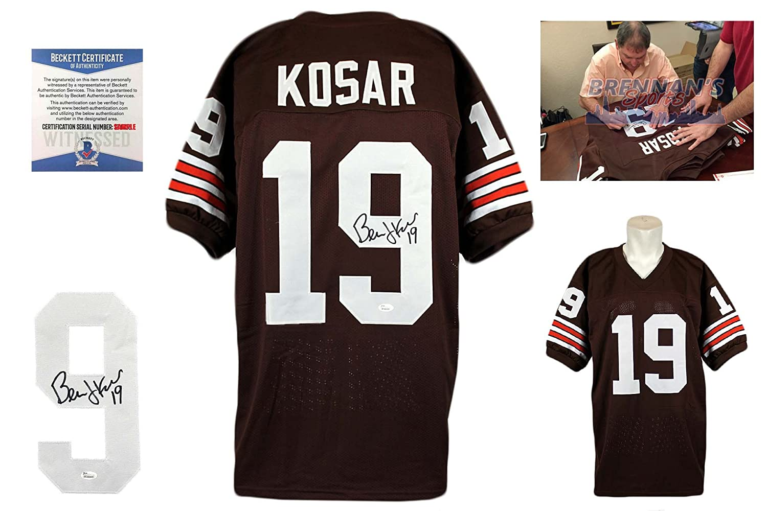 c7aa2b84e Amazon.com: Bernie Kosar Autographed SIGNED Jersey - Brown - Beckett:  Sports Collectibles