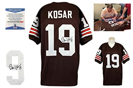 sports shoes e9c00 b46f0 Bernie Kosar Autographed SIGNED Jersey - Brown - Beckett