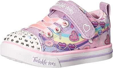 Skechers Unisex-Child Lighted Twinkle Toes Sneaker