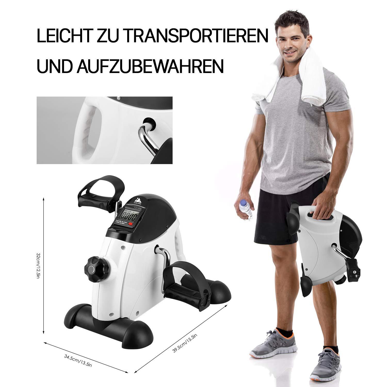 Sportger/ät,Minifahrrad Bewegungstrainer Fitnessger/ät f/ür Zuhause B/üro EVOLAND Mini Bike Arm- und Beintrainer Heimtrainer,Hometrainer Fitnesstrainer