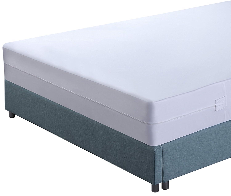 Utopia Bedding Funda de colchón Impermeable con Cremallera - Altura del colchón 15-25 cm - Protección contra líquidos, Insectos y ácaros del Polvo (90 x 200 ...