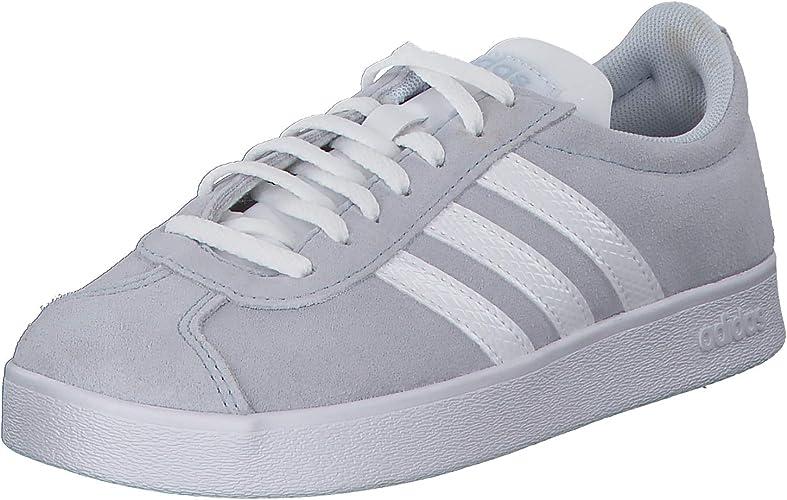 adidas VL Court 2.0 Sneaker in Übergrößen Grau F35130 große Damenschuhe