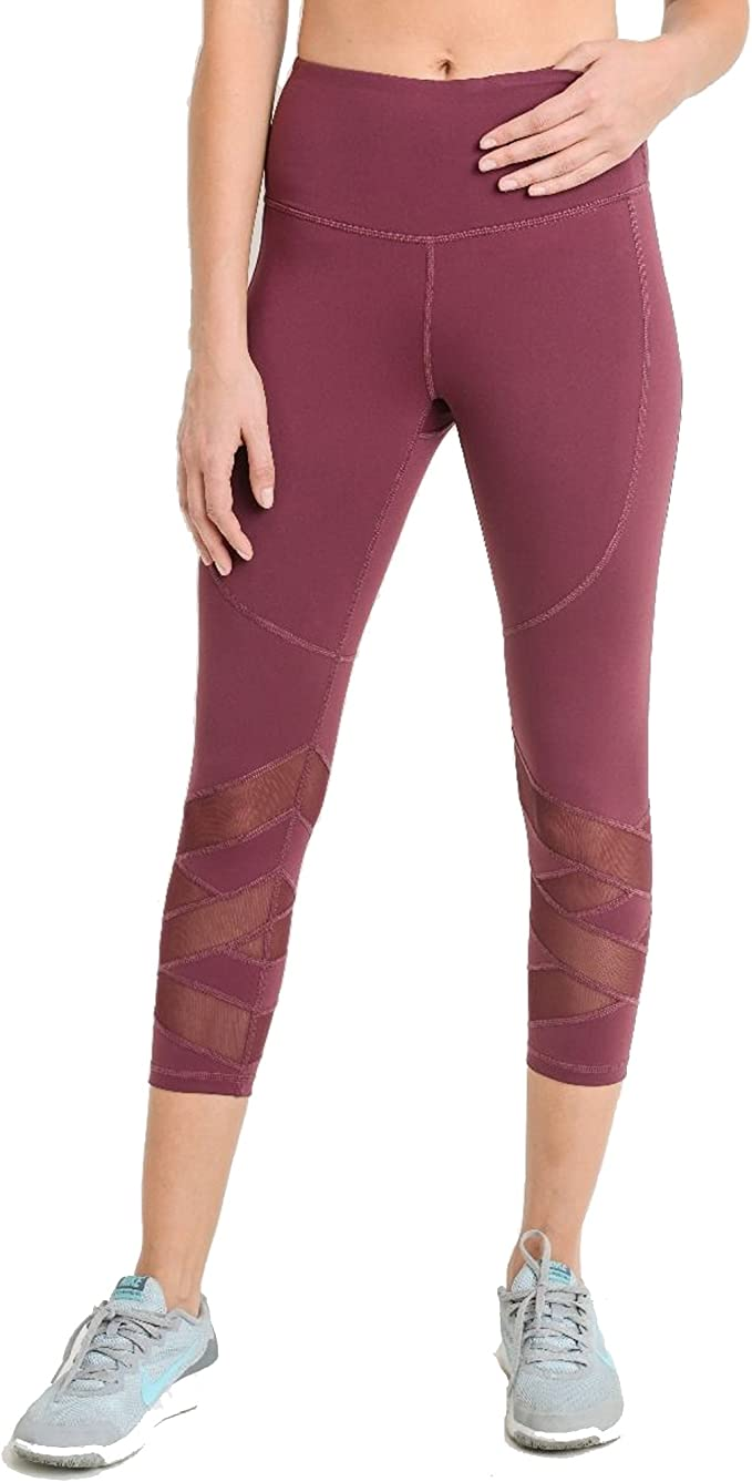 Amazon.com: Mono B Womens Zig Zag Mesh Leggings: Clothing