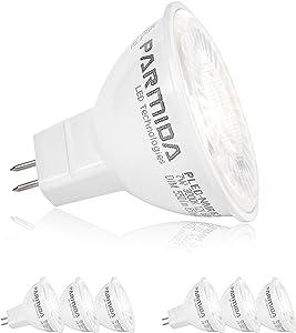 (6 Pack) Parmida LED MR16 Bulb, GU5.3 Base, Dimmable, 7W (50W Equivalent), 3000K (Soft White), 500lm, Spot Light Bulb, Energy Star, UL-Listed, 40° Beam Angle, 12V AC/DC, Track Lighting, Spotlight