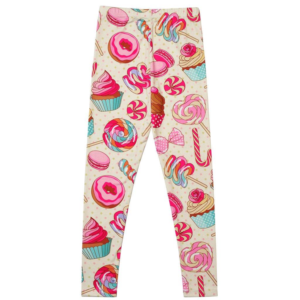 24e0569179655 Amazon.com: Girl Unicorn Leggings Kid Rainbow Print Legging Tights Trousers  Slim Long Pants: Clothing