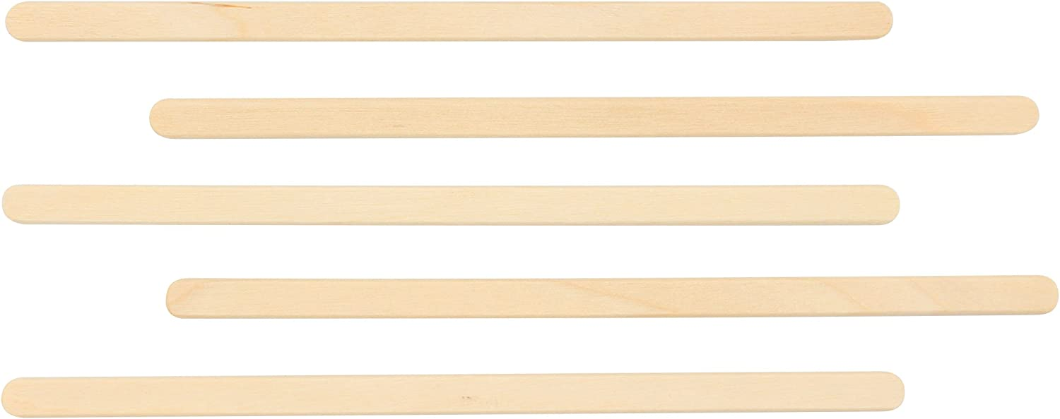 Popular Coffee Stir Sticks Wooden Stirrers Great for Mixing Coffee Other Drinks Disposable Tea Beverage Stirrer 100pcs 5.5 Inch Premium Quality