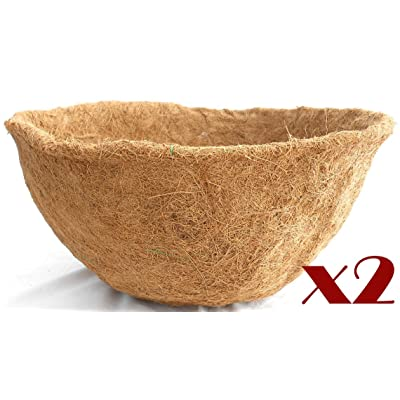 """Topiary Art Works 20"""" Basket Coco Moss Liner - 10"""" Deep Set of 2 Liners (C421L) : Garden & Outdoor"""