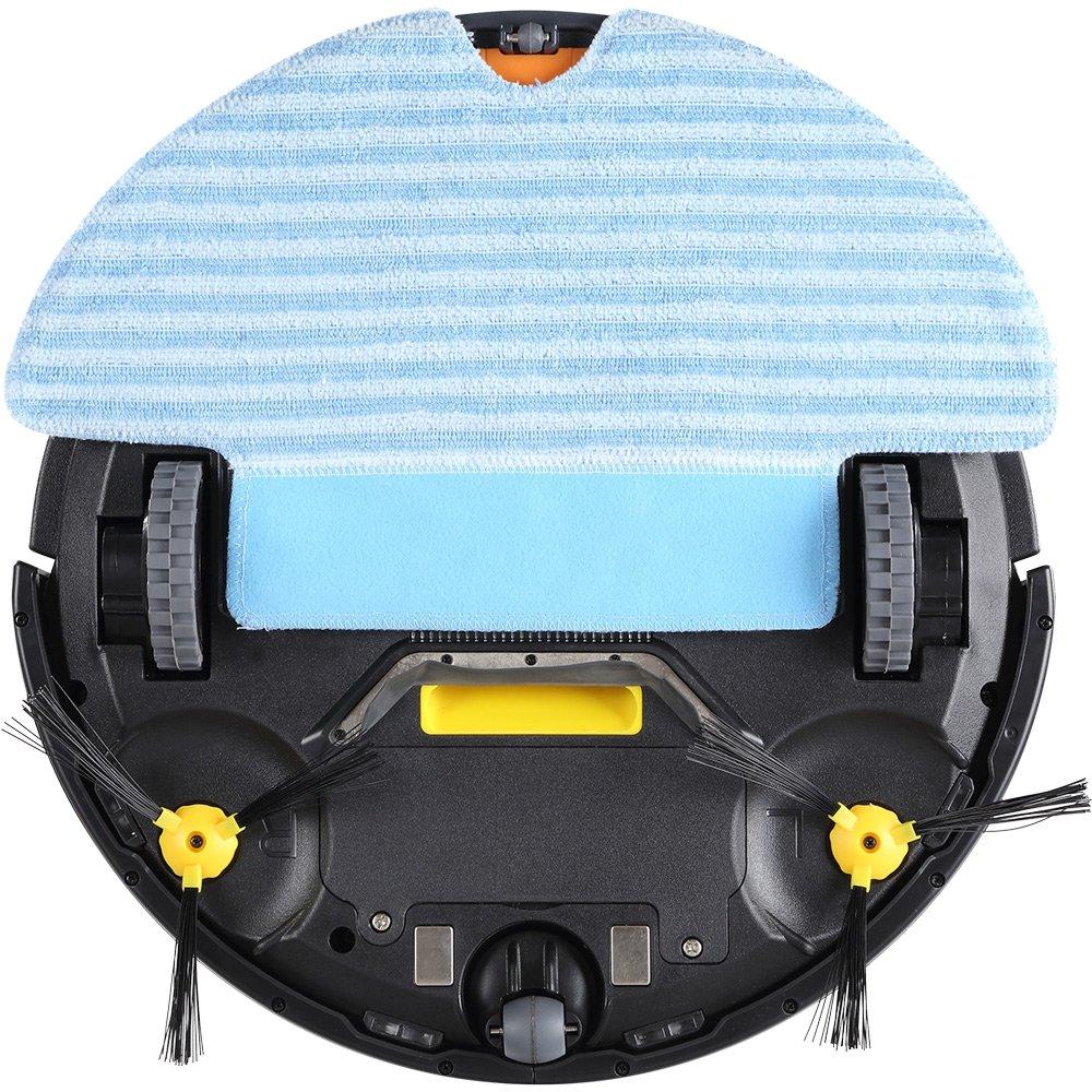 La nueva versión mejorada de Haier T322 Robot Aspirador 90 Min (120m² Cobertura de Limpiar, 180Ml Tanque de Agua Diámetro 34Cm, Escalada 25º)(EU plug) ...