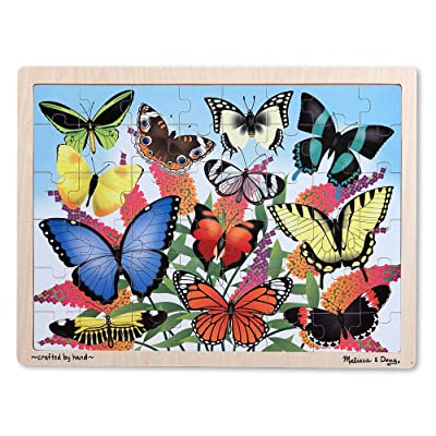 Melissa & Doug Butterfly Garden 48pc Wooden Jigsaw Puzzle: Melissa & Doug: Toys & Games