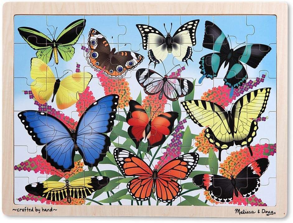Melissa & Doug Butterfly Garden 48pc Wooden Jigsaw Puzzle