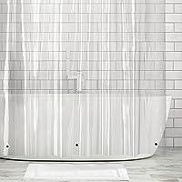 mDesign 10-Gauge Heavy-Duty Vinyl Shower Curtain Liner 100% Waterproof Mildew Resistant Reinforced Header Rustproof…