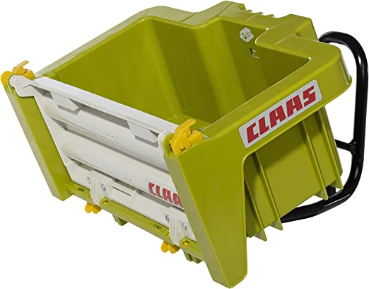 Transport/ín para Tractor a Pedales Rolly Toys 408924 rollyBox Claas para ni/ños de 3 a 10 a/ños, con Hueco inclinable y port/ón Trasero