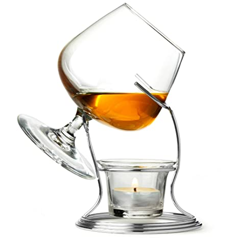 b56623257d74 Cognac   Brandy Warmer with Glass by bar drinkstuff - Includes Brandy Glass