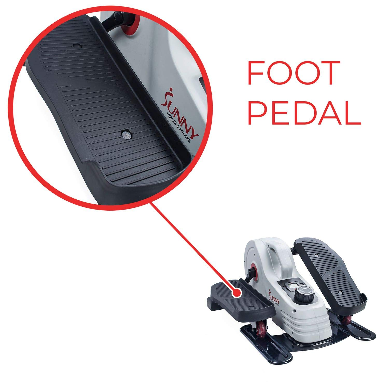 Sunny Health & Fitness Fully Assembled Magnetic Under Desk Elliptical - SF-E3872 by Sunny Health & Fitness (Image #8)