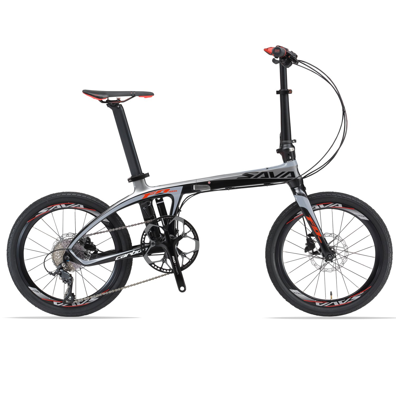 Sava Carbon bicicleta bicicleta plegable bicicleta plegable (.Solo 10 kg. Z1 - 9S: Amazon.es: Deportes y aire libre