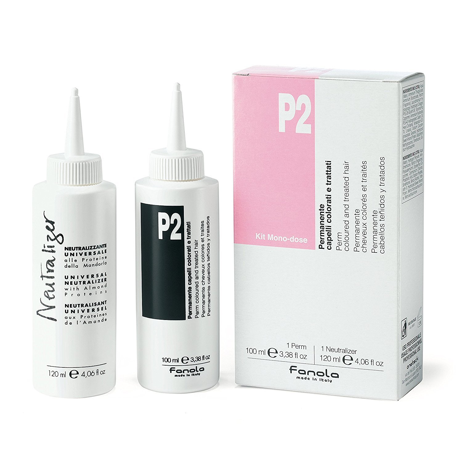FANOLA P2 PERMANENTE CAPELLI COLORATI E TRATTATI KIT MONODOSE 120+100 ml 8032947866915