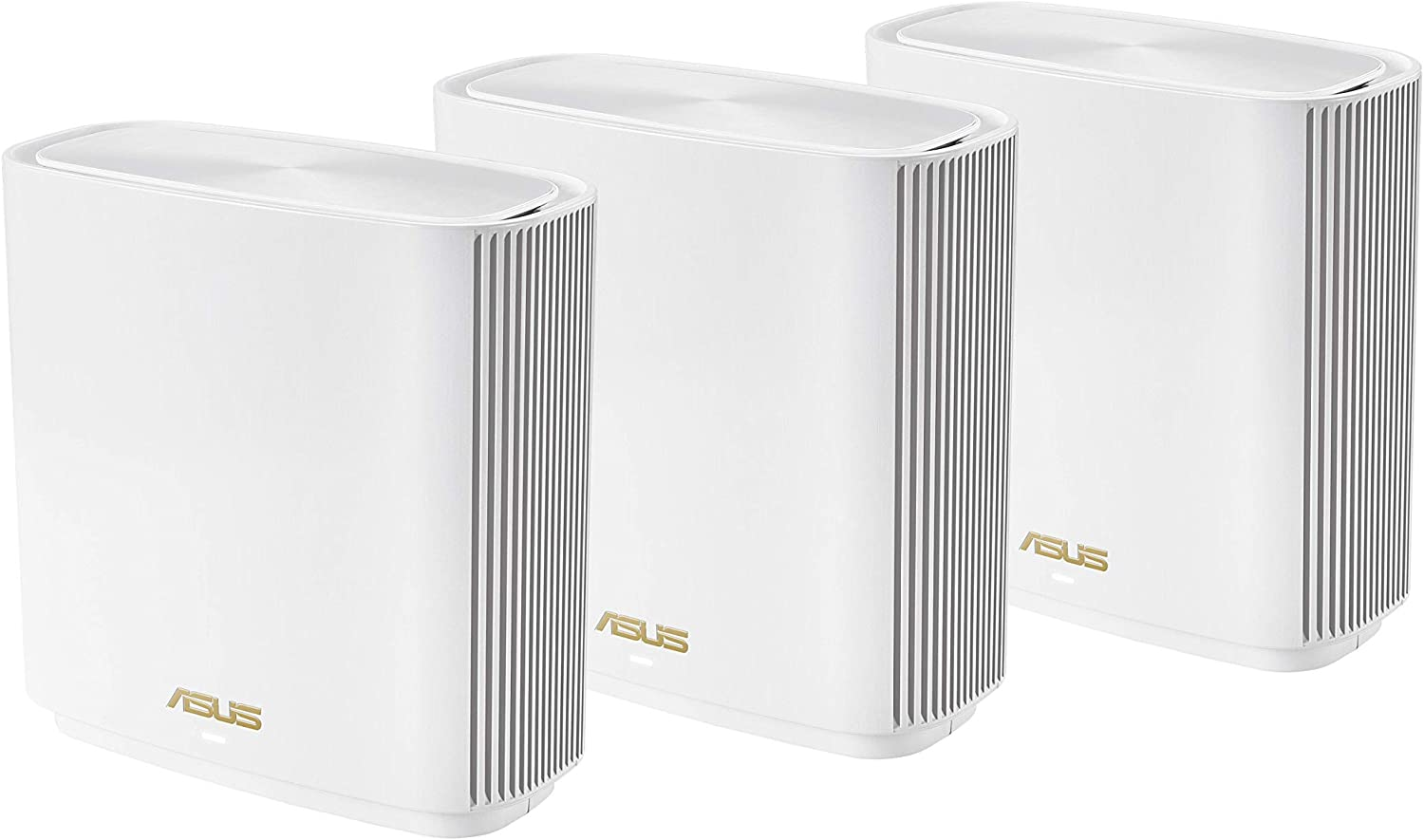 ASUS ZenWiFi AX Whole-Home Tri-Band Mesh WiFi 6 System (White) - 3 Pack, Coverage up to 5,500 sq.ft or 6+Rooms, 6.6Gbps, WiFi, 3 SSIDs, Life-time Free Network Security and Parental Controls, 2.5G Port