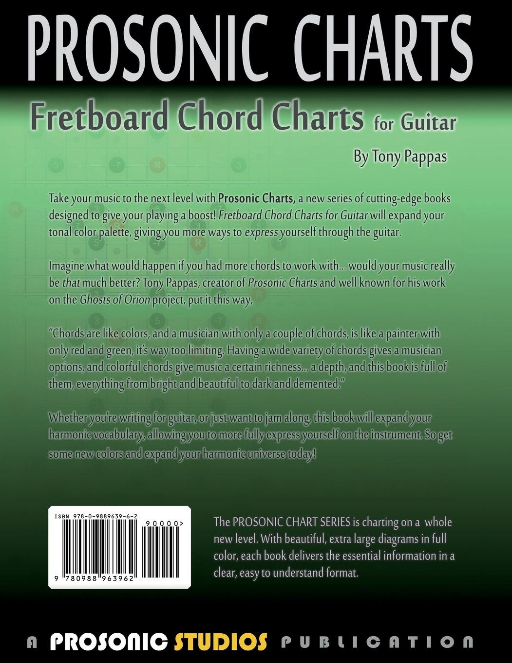 Amazon Fretboard Chord Charts For Guitar 9780988963962 Tony