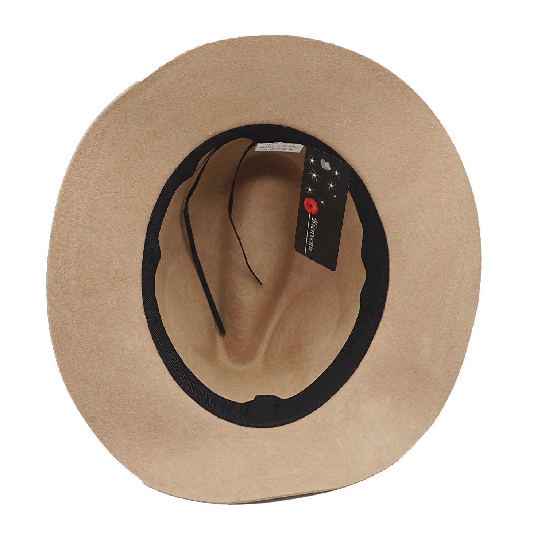 Kids Girls Vintage Dome 100/% Wool Felt Bowler Cap Floppy Hat Bow