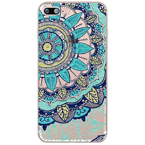 Amazon.com: Floral Lace Mandala Flower Soft Silicone Clear ...
