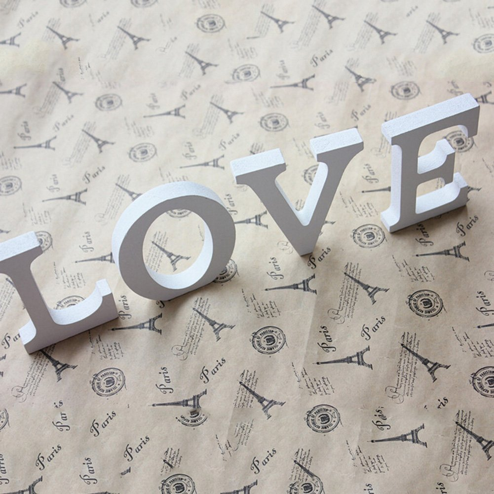 Totoo Decorative Wood Letters, Hanging Wall 26 Letters Wooden Alphabet Wall Letter for Children Baby Name Girls Bedroom Wedding Brithday Party Home Decor-Letters (N) by Totoo (Image #2)