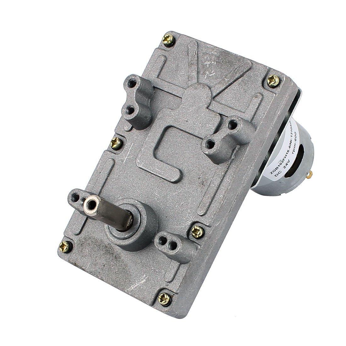 eDealMax DC24V 600 rpm de alto par eléctrico DC gusano de la caja de engranajes del motor reductor de velocidad - - Amazon.com