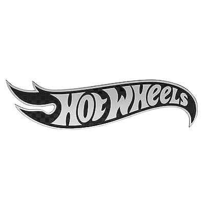 Pilot Automotive HOT-0004 Hot Wheels Silver Logo Carbon Fiber Aluminum Car Emblem: Automotive