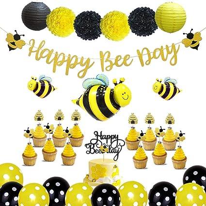 10-Pieces Set Bumble Bee Centerpieces Cake Topper