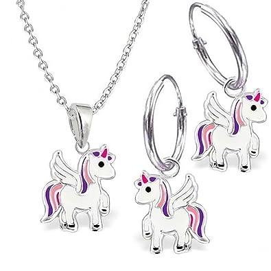 Einhorn Anhänger Emaille Pegasus