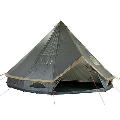 10T Mojave 600 Plus - Tente ronde pyramidale 11 places avec sol cousu + cabine de couchage séparée CE=5000mm