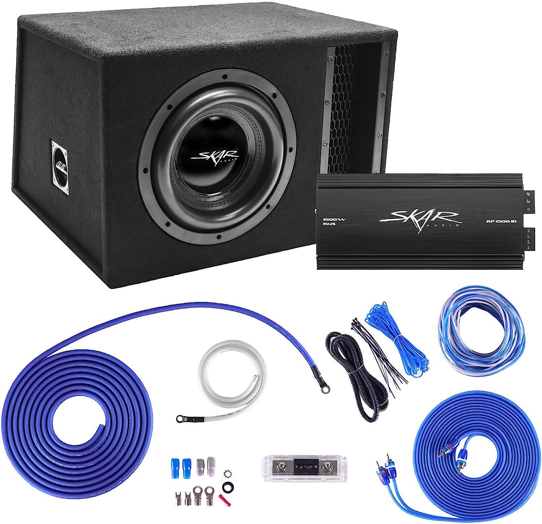 EVL-1X12D2 Skar Audio Single 12 2500W Loaded EVL Series Vented Subwoofer Enclosure