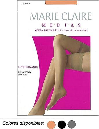 MARIE CLAIRE - MEDIA ANTIDESLIZANTE mujer color: NEGRO talla: talla única: Amazon.es: Ropa y accesorios