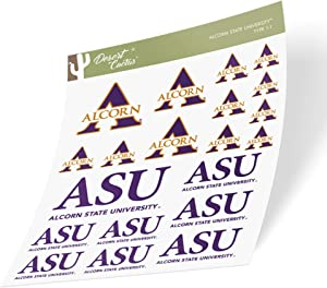 Alcorn State University ASU Braves HBCU NCAA Sticker Vinyl Decal Laptop Water Bottle Car Scrapbook (Type 1-1 Sheet)
