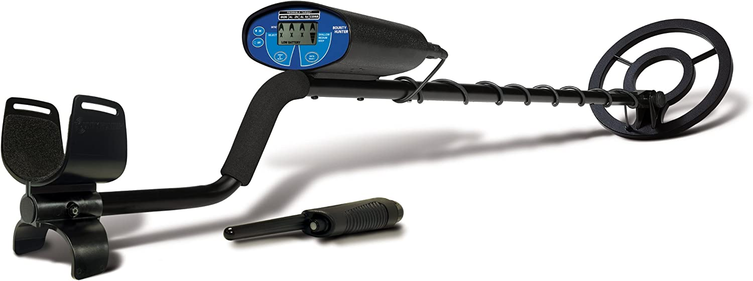 Bounty Hunter QSIGWP Quick Silver Metal Detector with Pin Pointer Renewed
