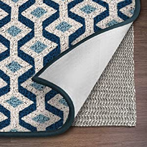 Ninja Brand Gripper Rug Pad, Size 7 Feet x 10 Feet, for Hardwood Floors and Hard Surfaces, Top Gripper Adds Cushion and Maximum Protection, Works with All Types of Rugs, Pads Available in Many Sizes