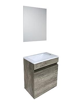 Mueble De Baño Suspendido   Starbath Conjunto Mueble De Bano Suspendido Oslo Mdf 40x25cm