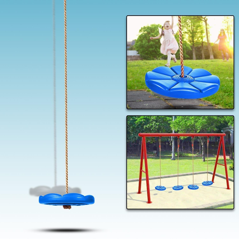Benlet Disk Swing Seat Monkey Rope Tree Swing for Kids Adults Outdoor Fun