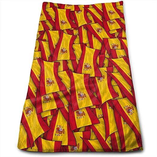 huibe Toallas de Mano Bandera de España Wave Wave Toallas de Cara Toallas Altamente absorbentes para el Rostro Gimnasio y SPA 30x70 cm: Amazon.es: Hogar