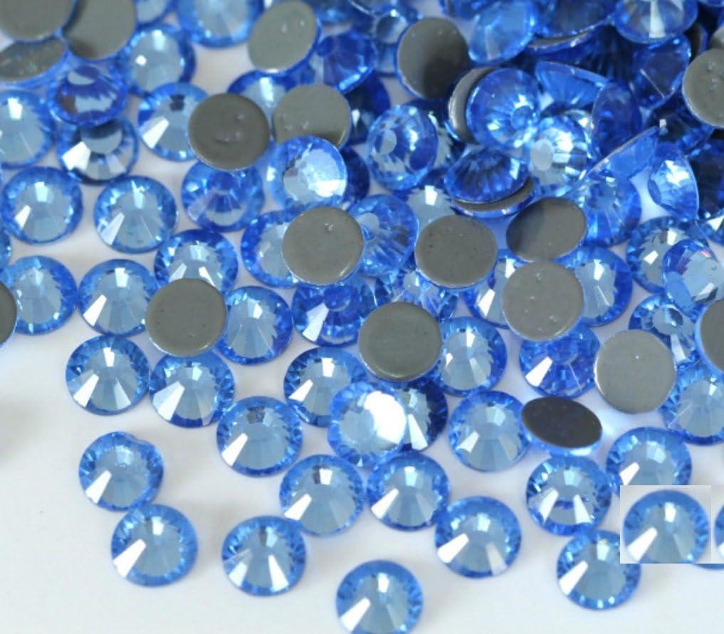 BrillaBenny 1400 Cristalli CELESTI Light Sapphire Sky TERMOADESIVI HOTFIX Celeste Rhinestone Crystal LT Blue SS20//5MM