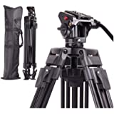 Regetek 72 Inch Video Camera Tripod System,Professional Heavy Duty Aluminum Adjustable Photography Tripod Stand with…