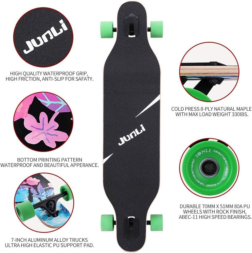 Junli 41 Inch Freeride Skateboard Longboard - 4